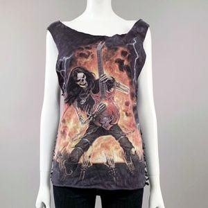M metal head thrashed tank top shirt vintage